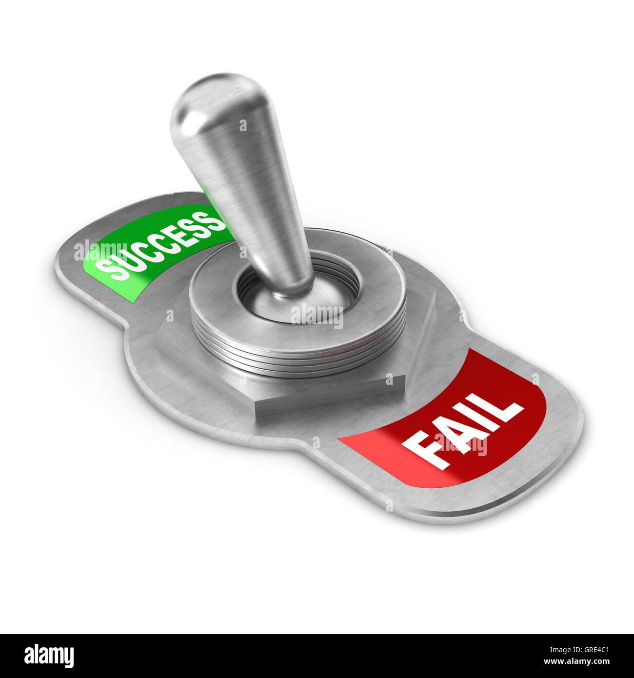 Success vs Fail Switch - Stock Image