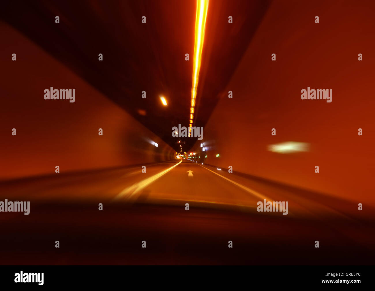 Tunnel, Symbol Of Tunnel Vision, Blurring Symbolizes Dizziness - Stock Image