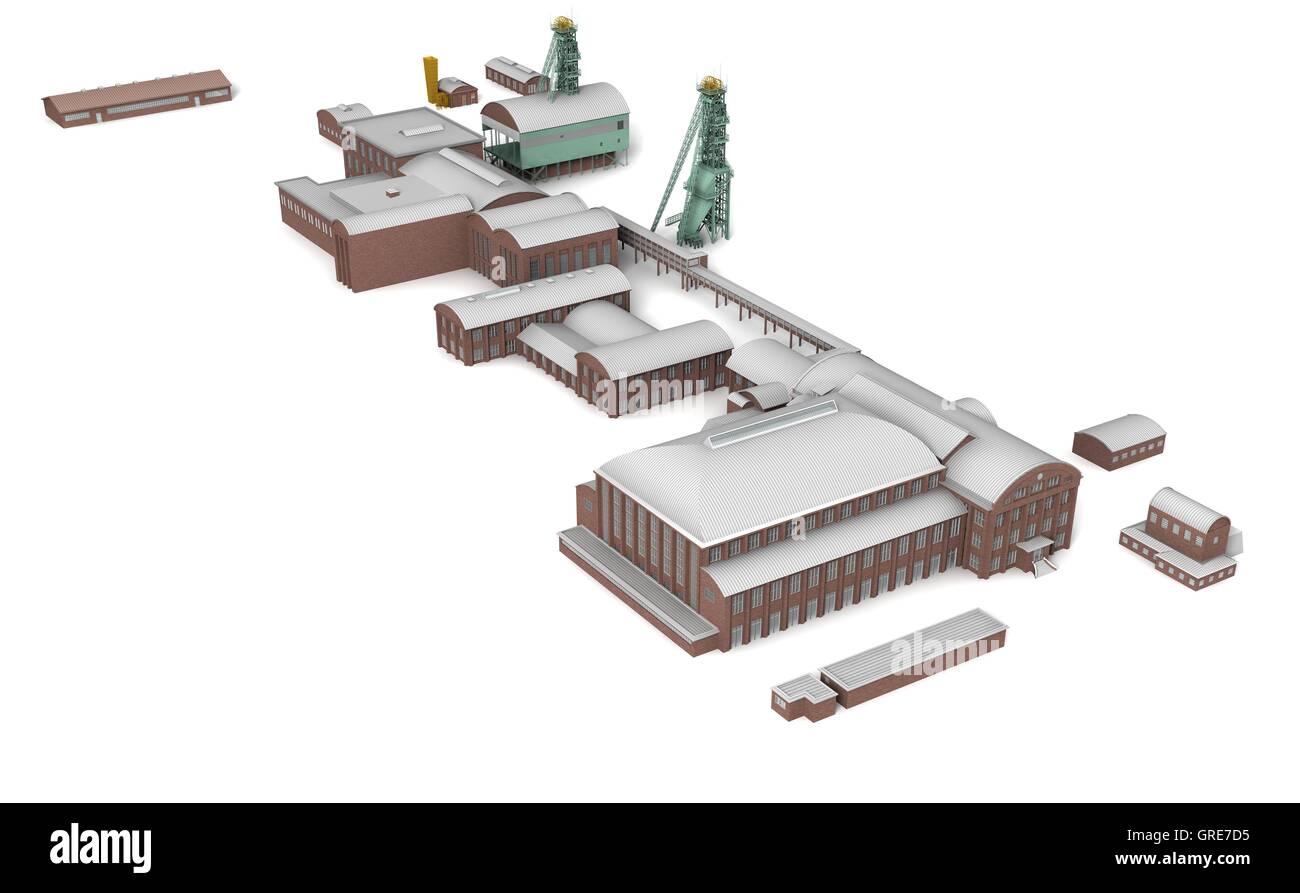 Mine Westphalia 4 - Stock Image