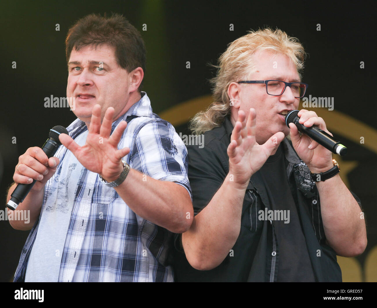 Duo Olaf Amp Hans - Stock Image