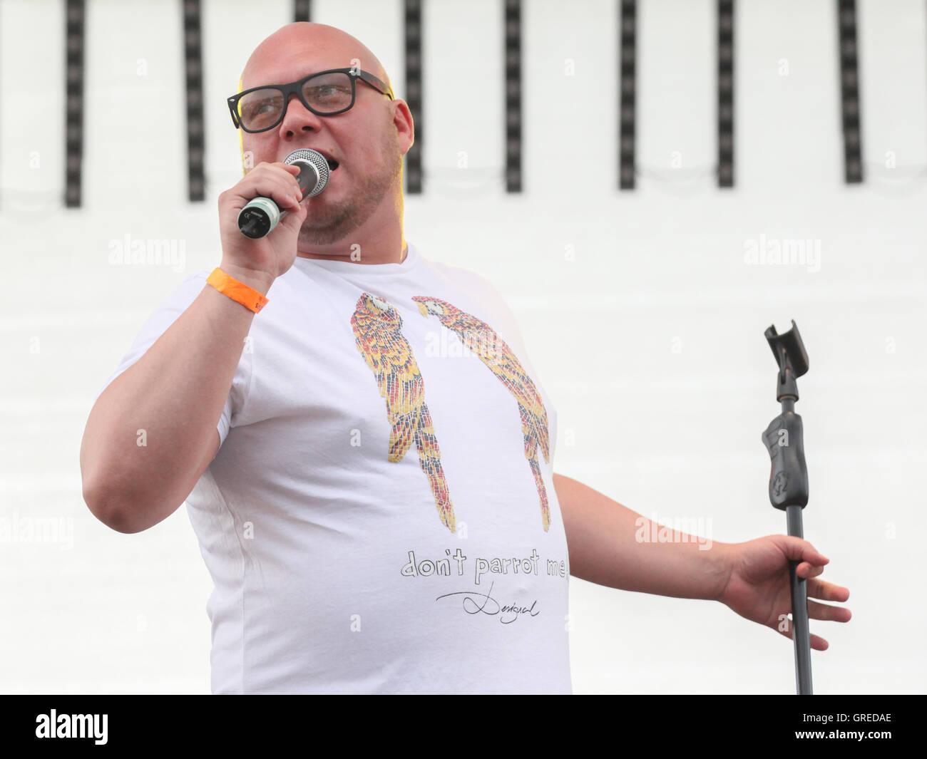 Singer Buddy - Stock Image