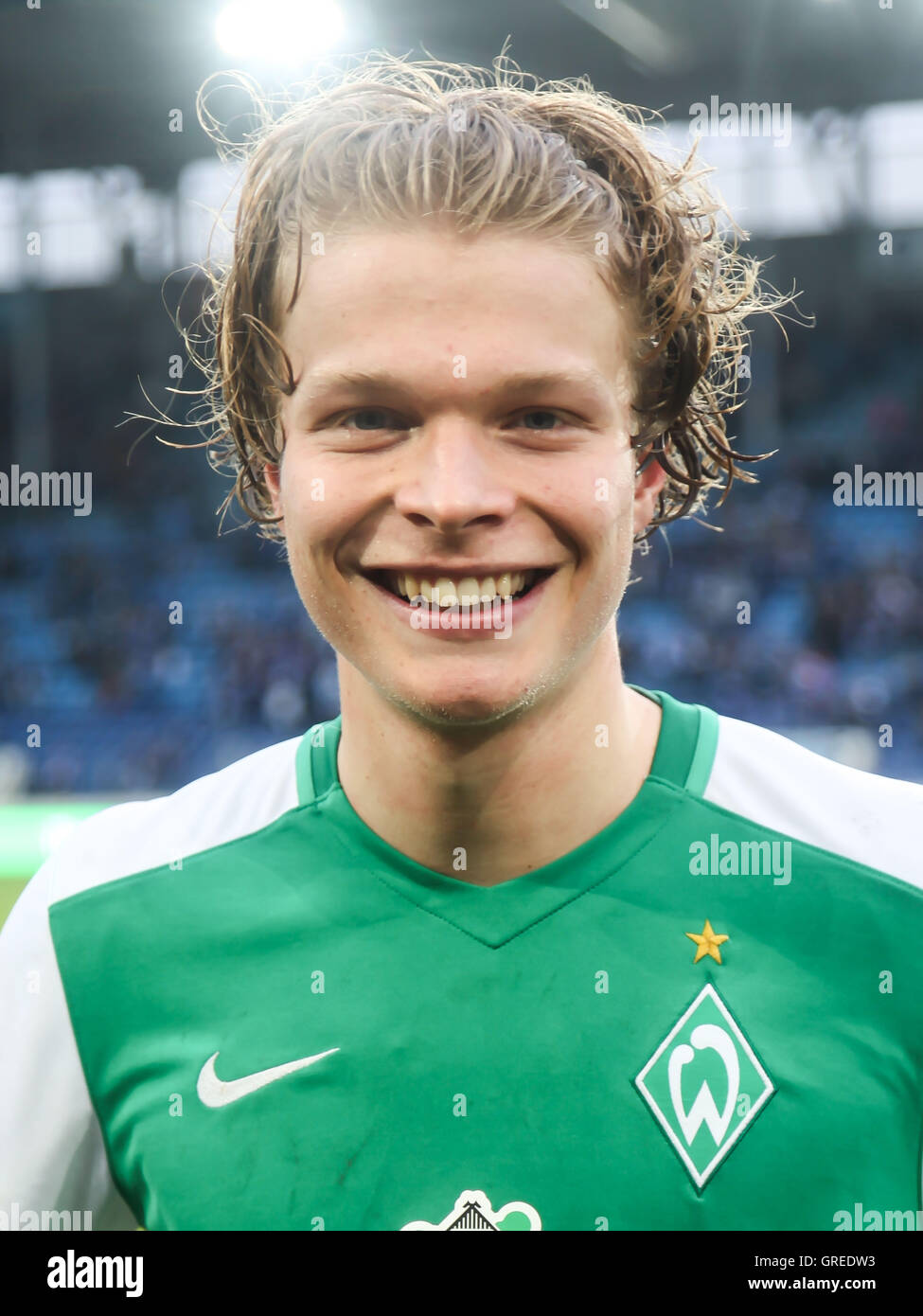 Jesper Verlaat Werder Bremen 3. Liga 2015 2016 Season League Game Against 1.Fc Magdeburg U23 Werder Bremen In Magdeburg - Stock Image