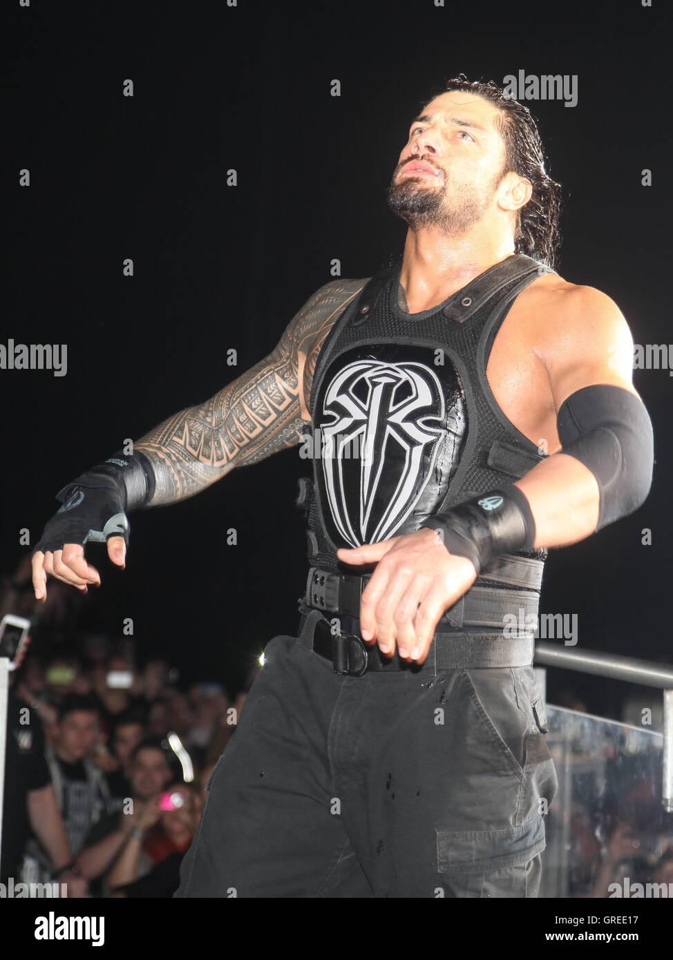 Wwe Superstar Roman Reigns - Stock Image