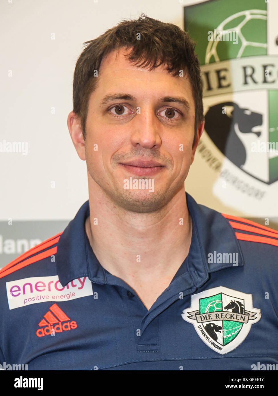 Coach Jens Buerkle Tsv Hannover Burgdorf - Stock Image