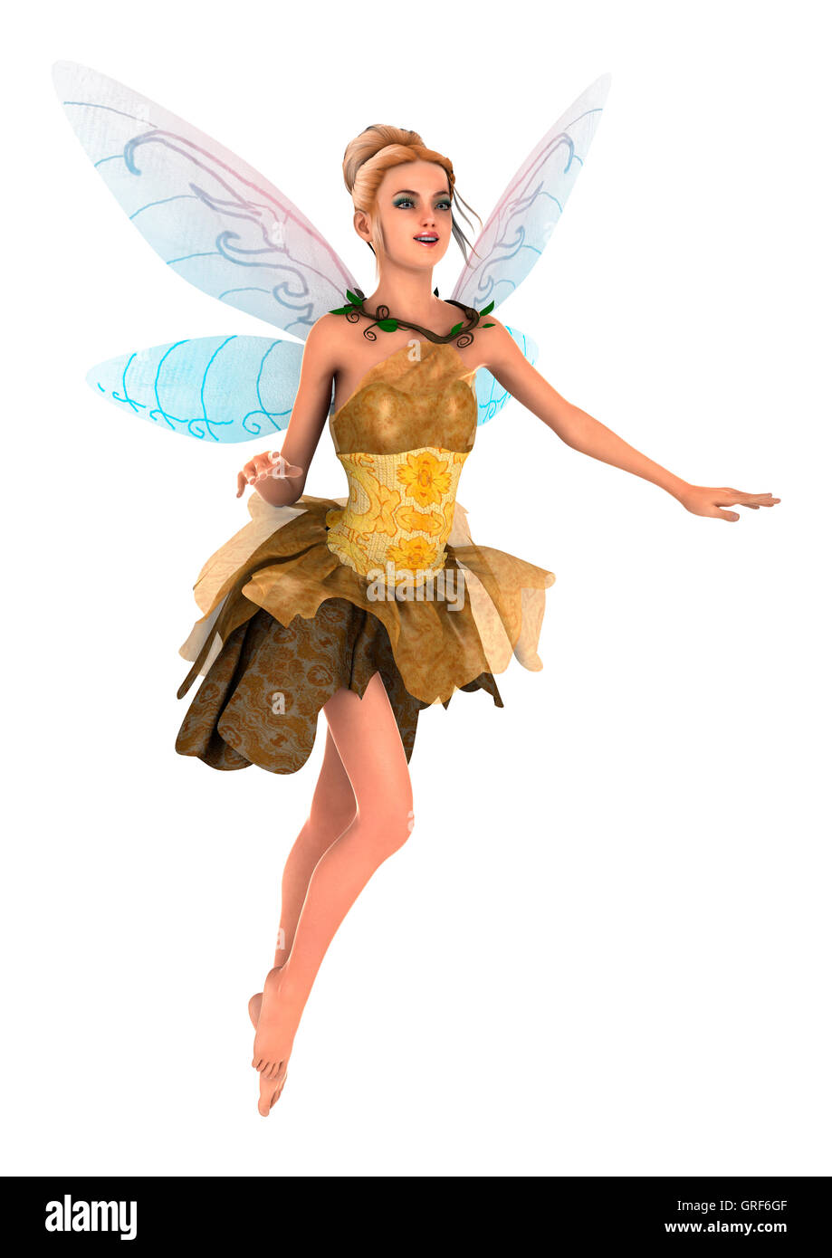 3D rendering of a beautiful fantasy fairy isolated on white background  sc 1 st  Alamy & 3D rendering of a beautiful fantasy fairy isolated on white Stock ...