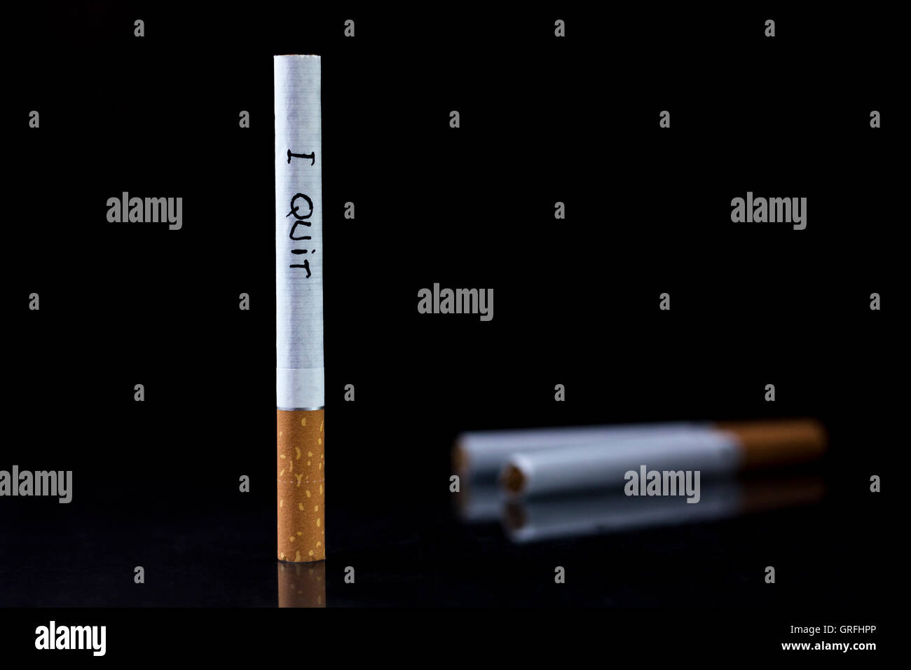 Quit smoking message - Stock Image
