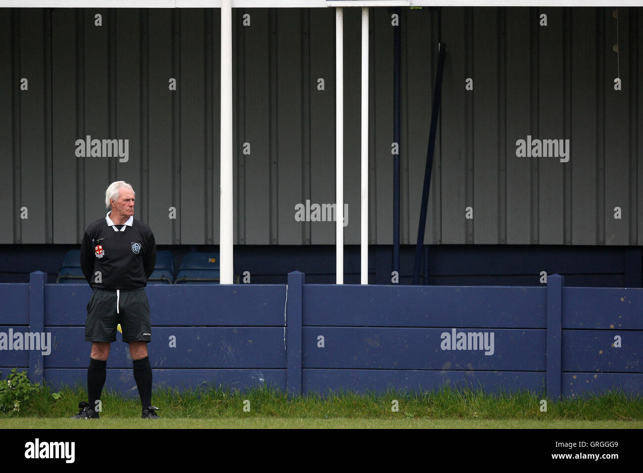 A match official is seen during the Hackney Gazette Cup Final at Leyton Football Club - 20/04/08 - Stock Image
