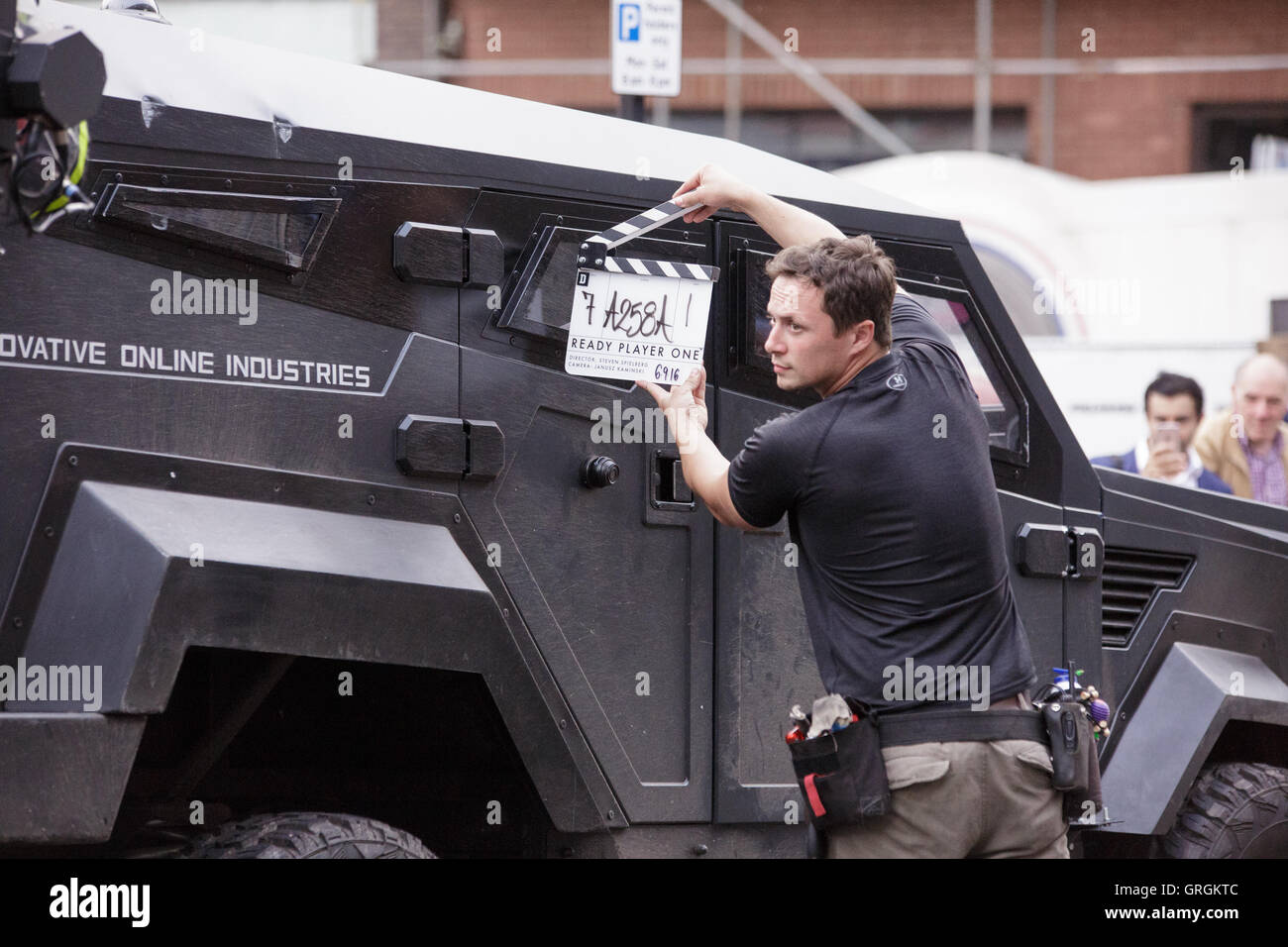 Birmingham, UK. 6, September, 2016 Filming takes place for Steven Speilbergs latest sci-fi movie 'Ready Player - Stock Image