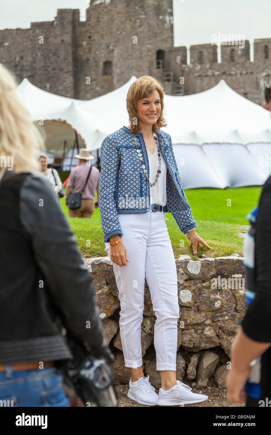 Pembroke, Wales, UK. 7th Sep, 2016. Fiona Bruce on BBC ...