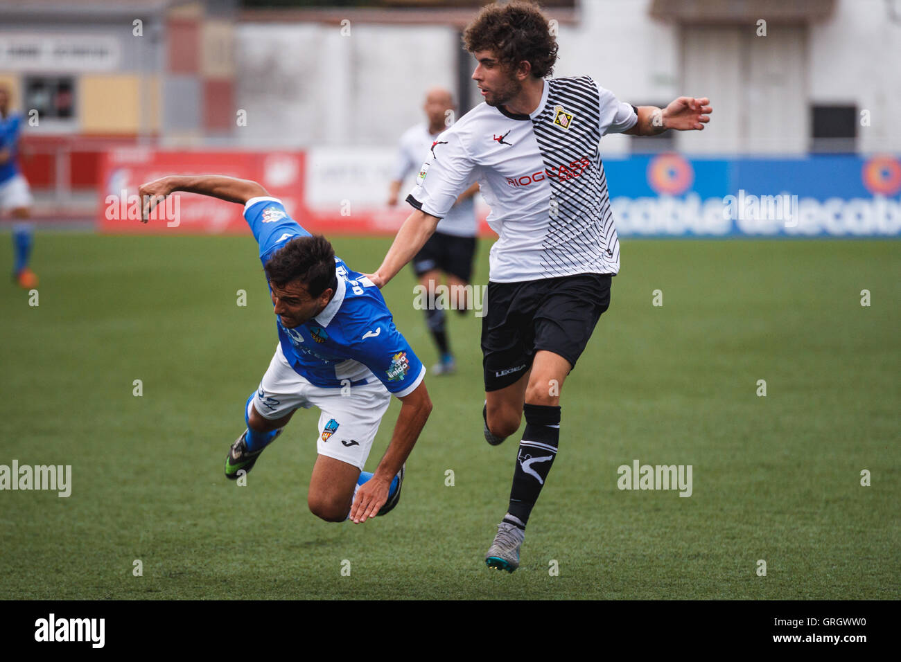 7/9/2016. Mieres, Spain. 2nd Round of Spanish Copa del Rey game between Caudal Deportivo and  Lleida Esportiu. - Stock Image