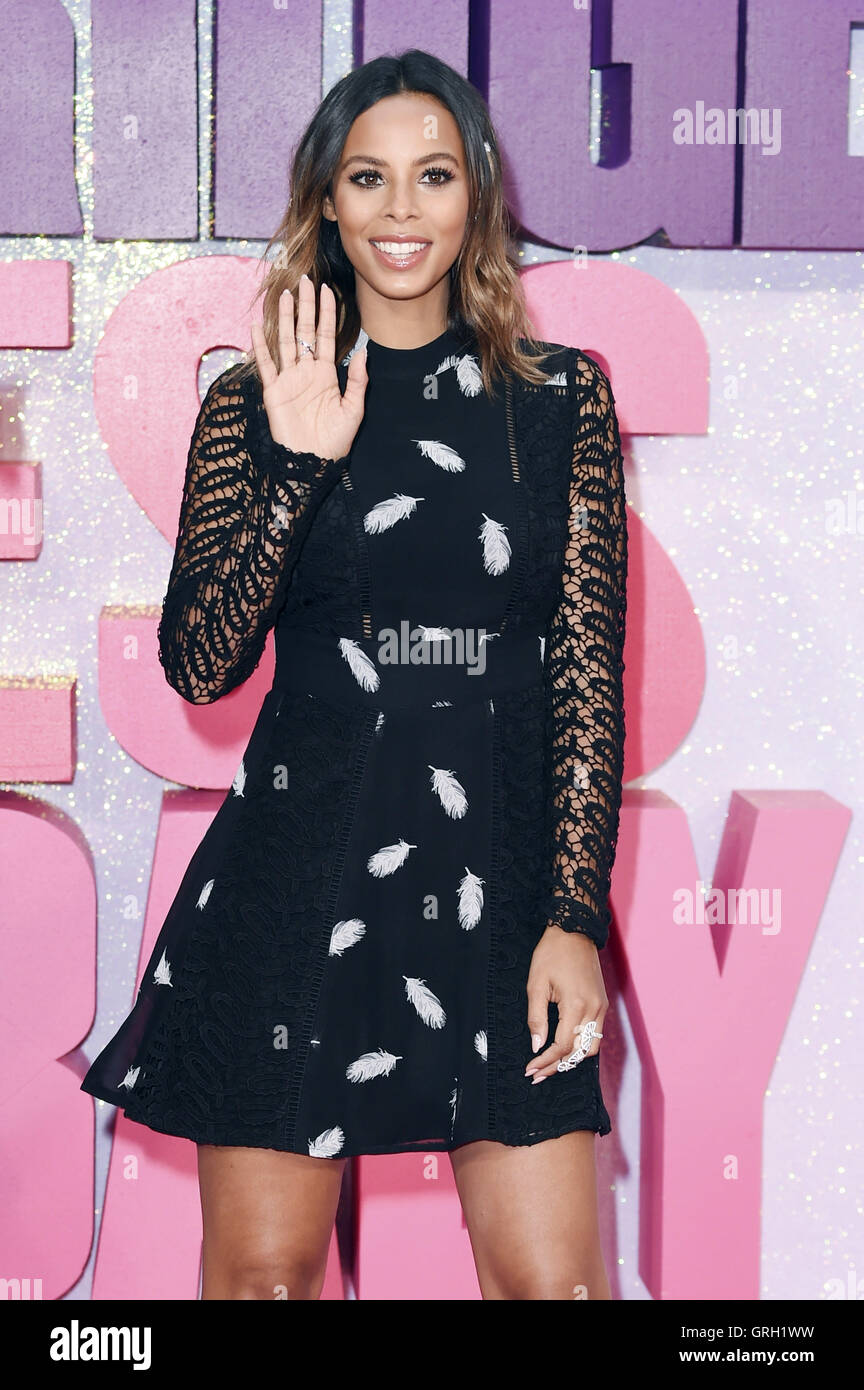 Rochelle Humes at the Premiere of 'Bridget Jones's Baby' im Odeon Leicester Square. London, 05.09.2016 - Stock Image