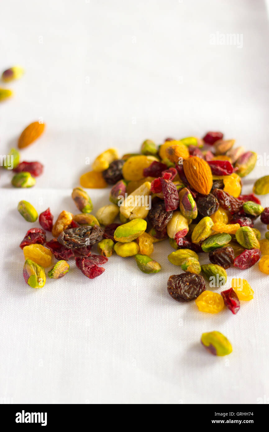 Dried fruit and nuts - Stock Image
