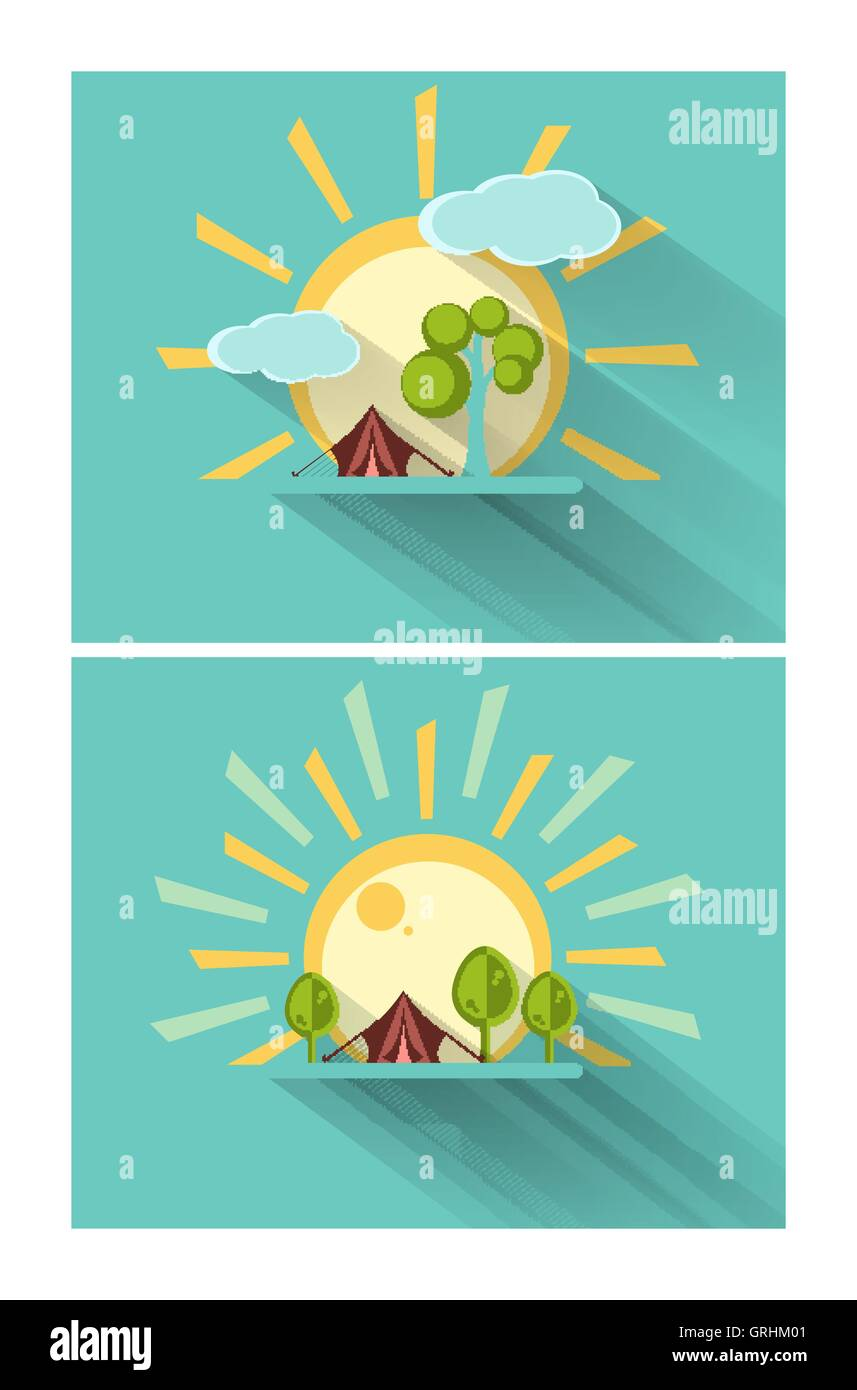 vector mountains elements - Stock Vector