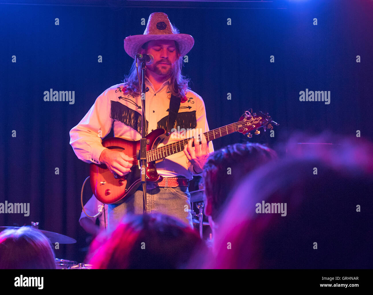 Karl Blau Country singer playing at the Lexington Islington London UK - Stock Image