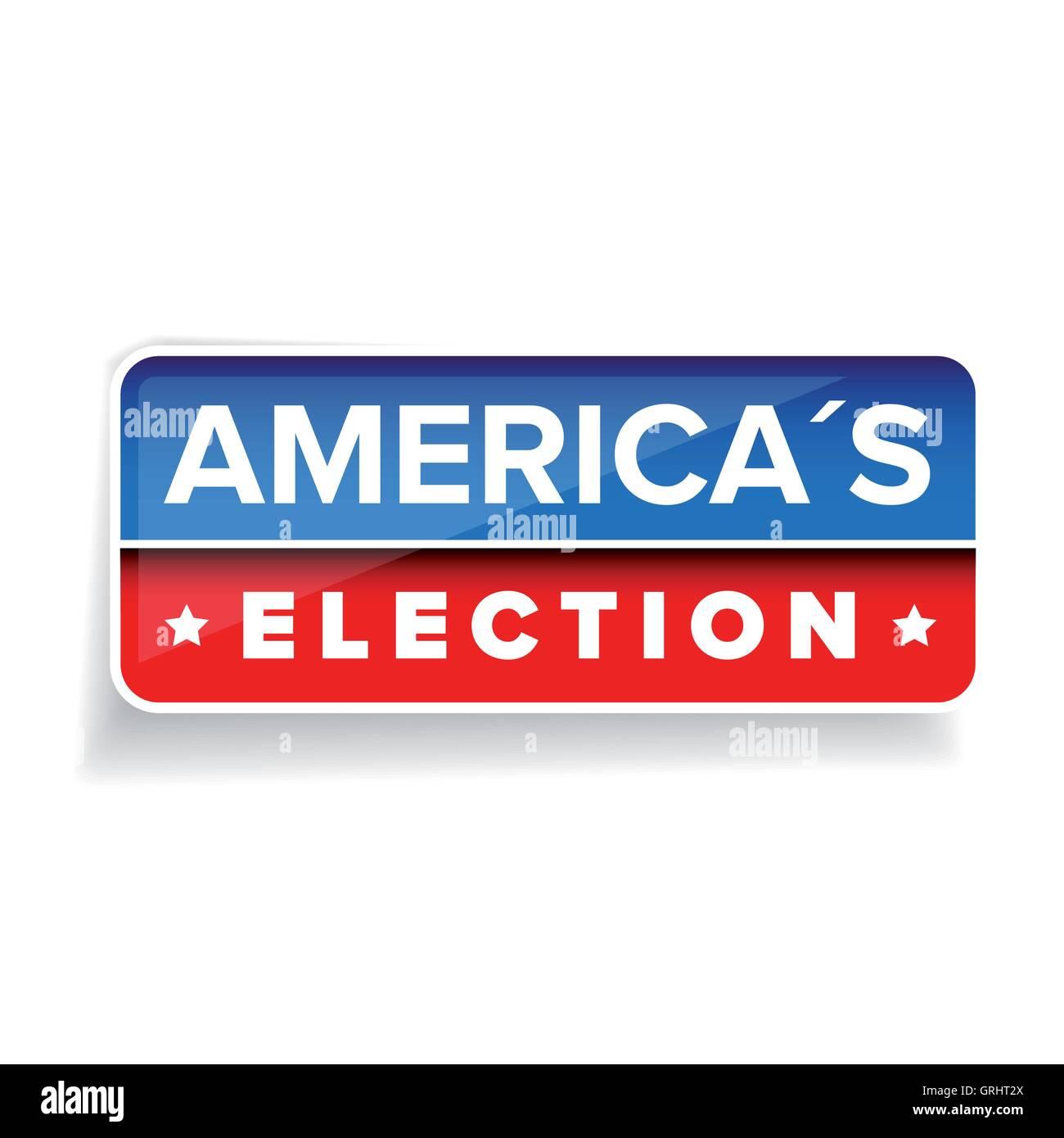 Americas Election vector button - Stock Image