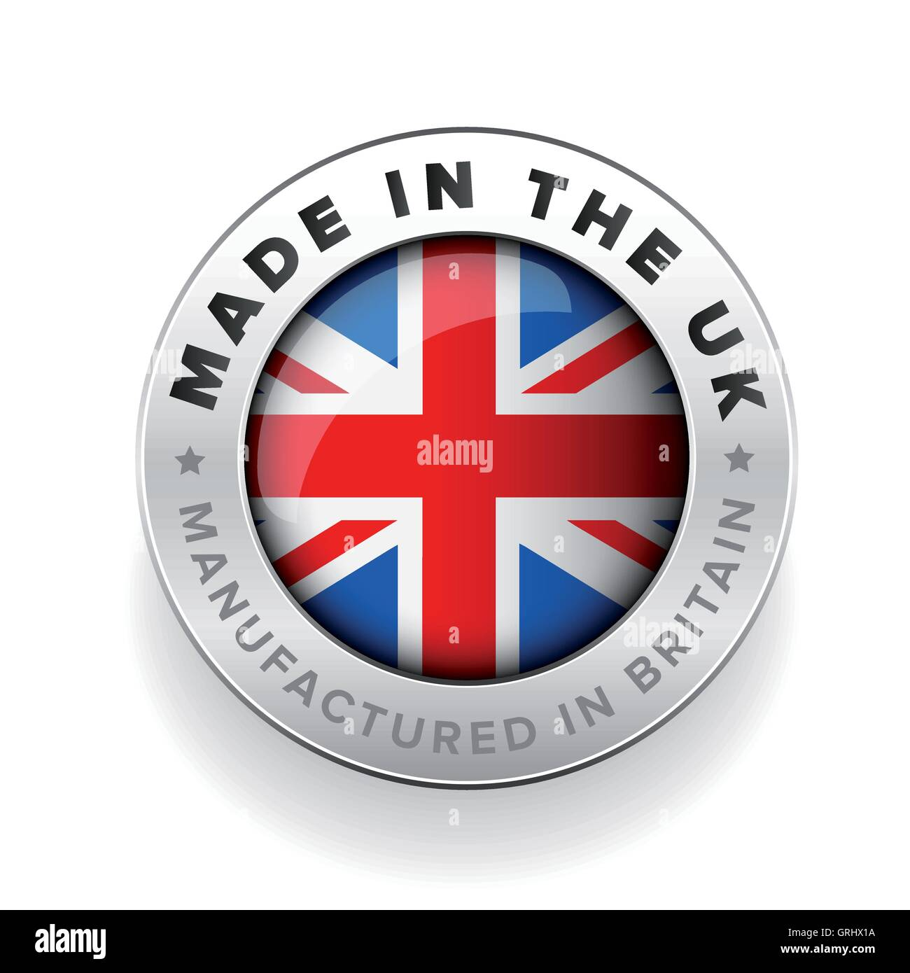 Made in the UK. Manufactured in Britain - Stock Vector