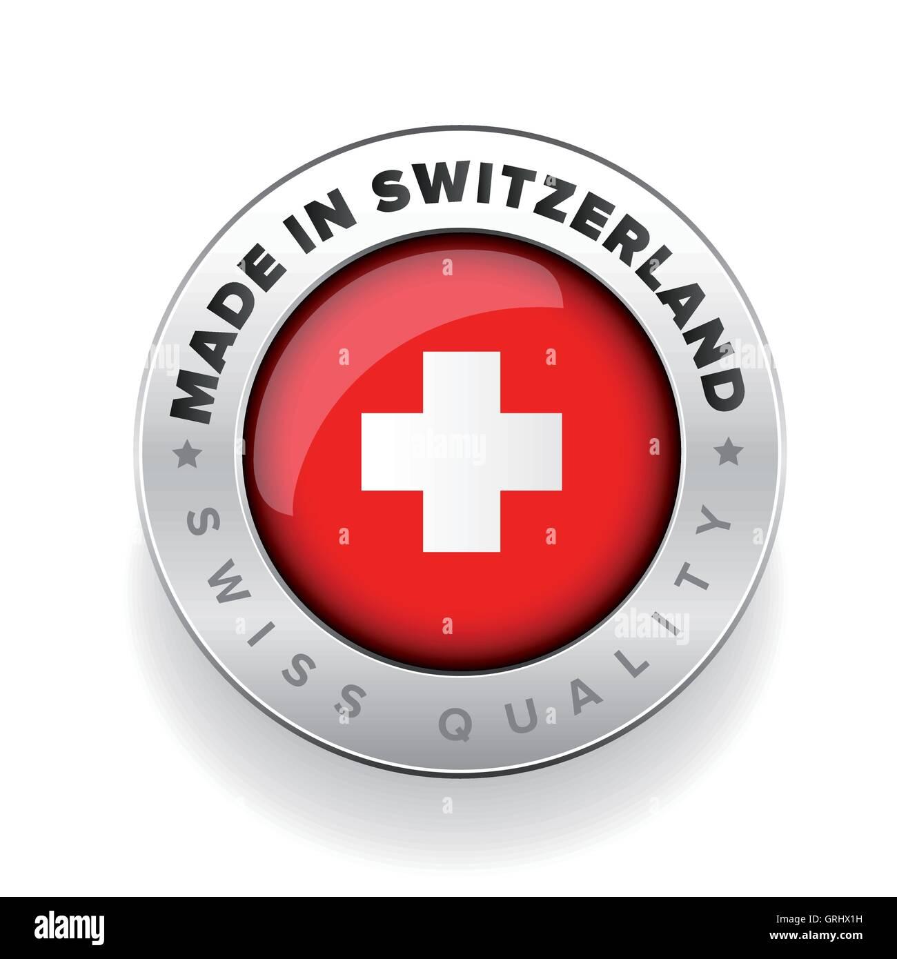 Made in Switzerland. Swiss made - Stock Image