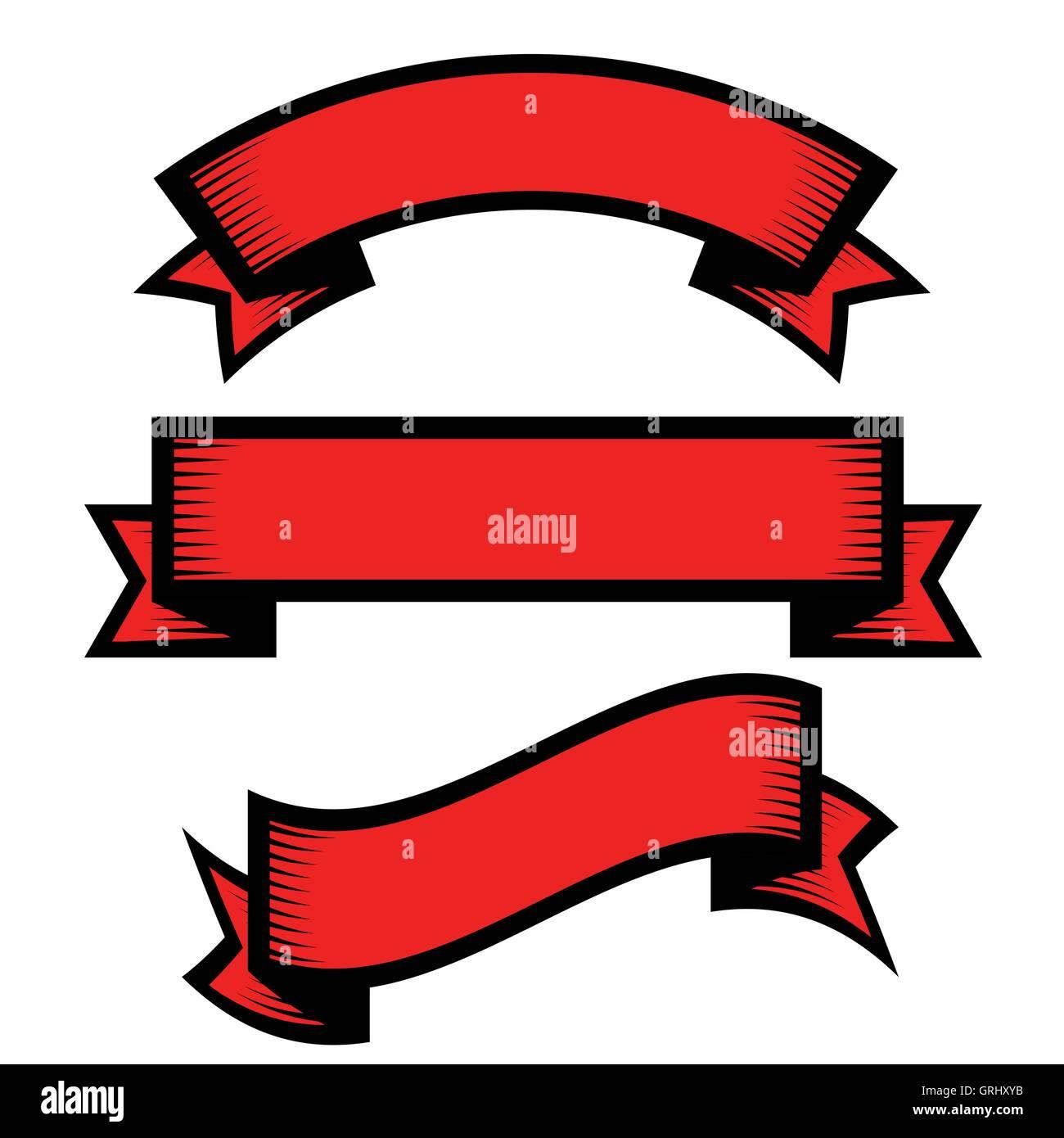 retro vintage engraving style ribbon vector set stock vector art rh alamy com ribbon vector free ribbon vectors for office