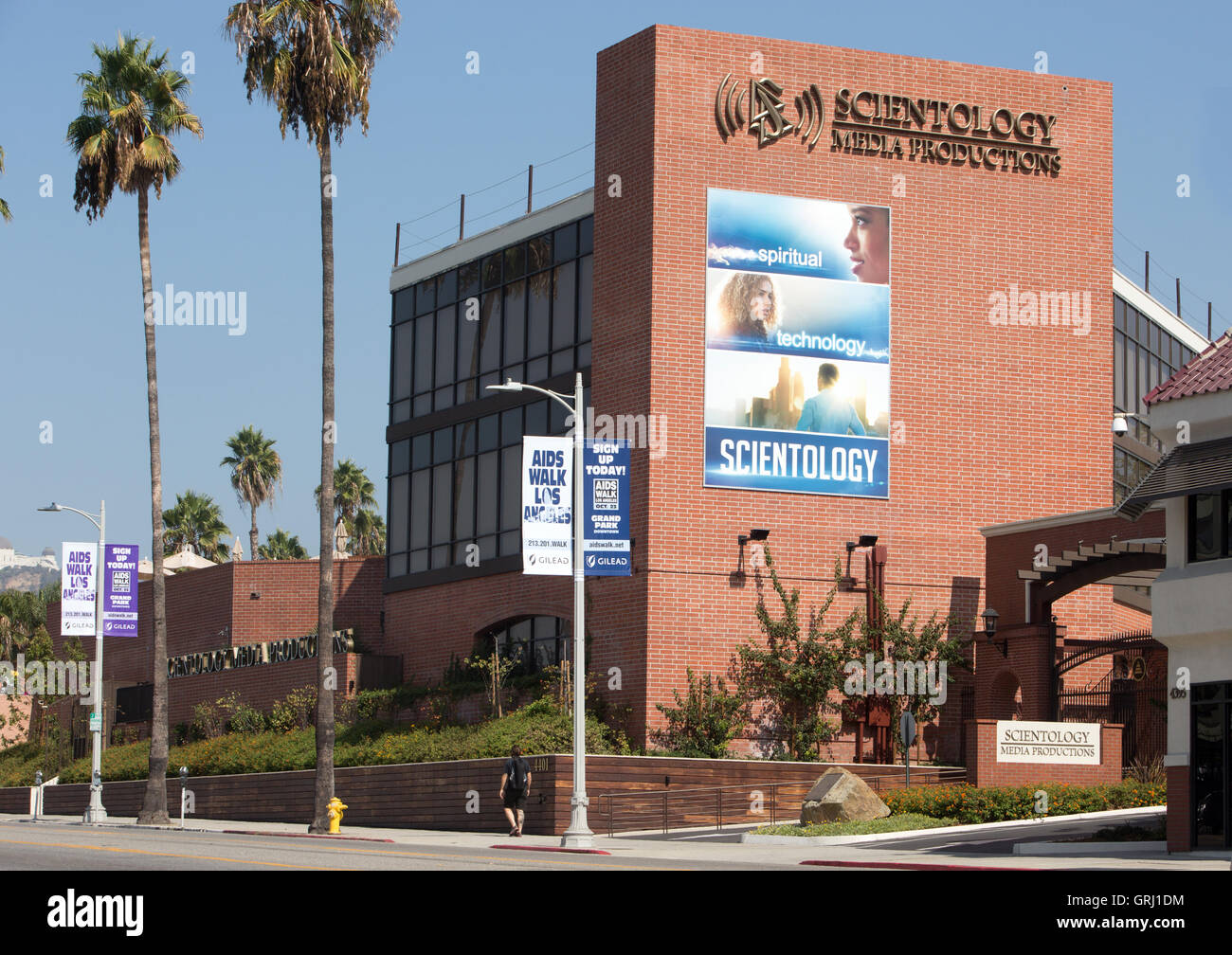 The Church of Scientology Media Productions studio in Hollywood. - Stock Image