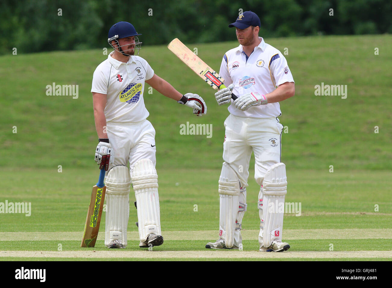 Ardleigh Green CC vs Westcliff-on-Sea CC, Shepherd Neame Essex League Cricket at Central Park on 11th June 2016 Stock Photo