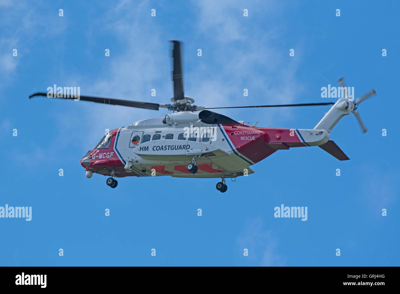 Sikorsky S-92A Coastguard SAR Helicopter (G-MCGF) based at Inverness. SCO 11,233. Stock Photo
