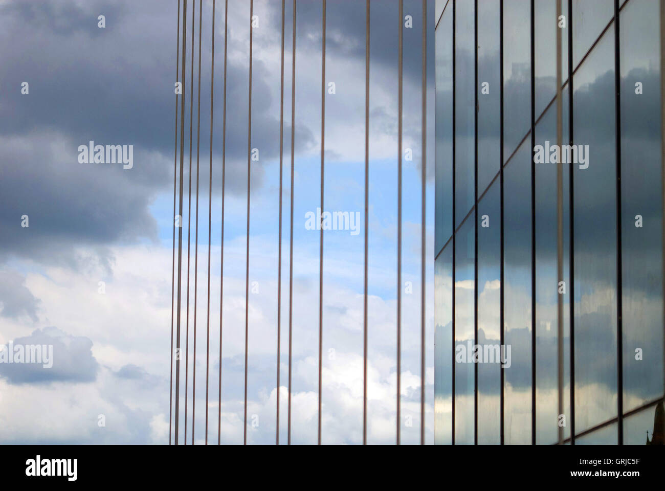 Detail of windows, Middlesbrough Institute of Modern Art MIMA Stock Photo