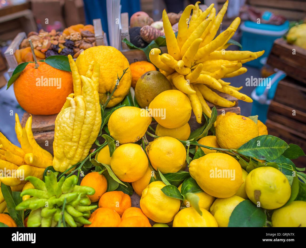 Mix of citrus fruits - Stock Image