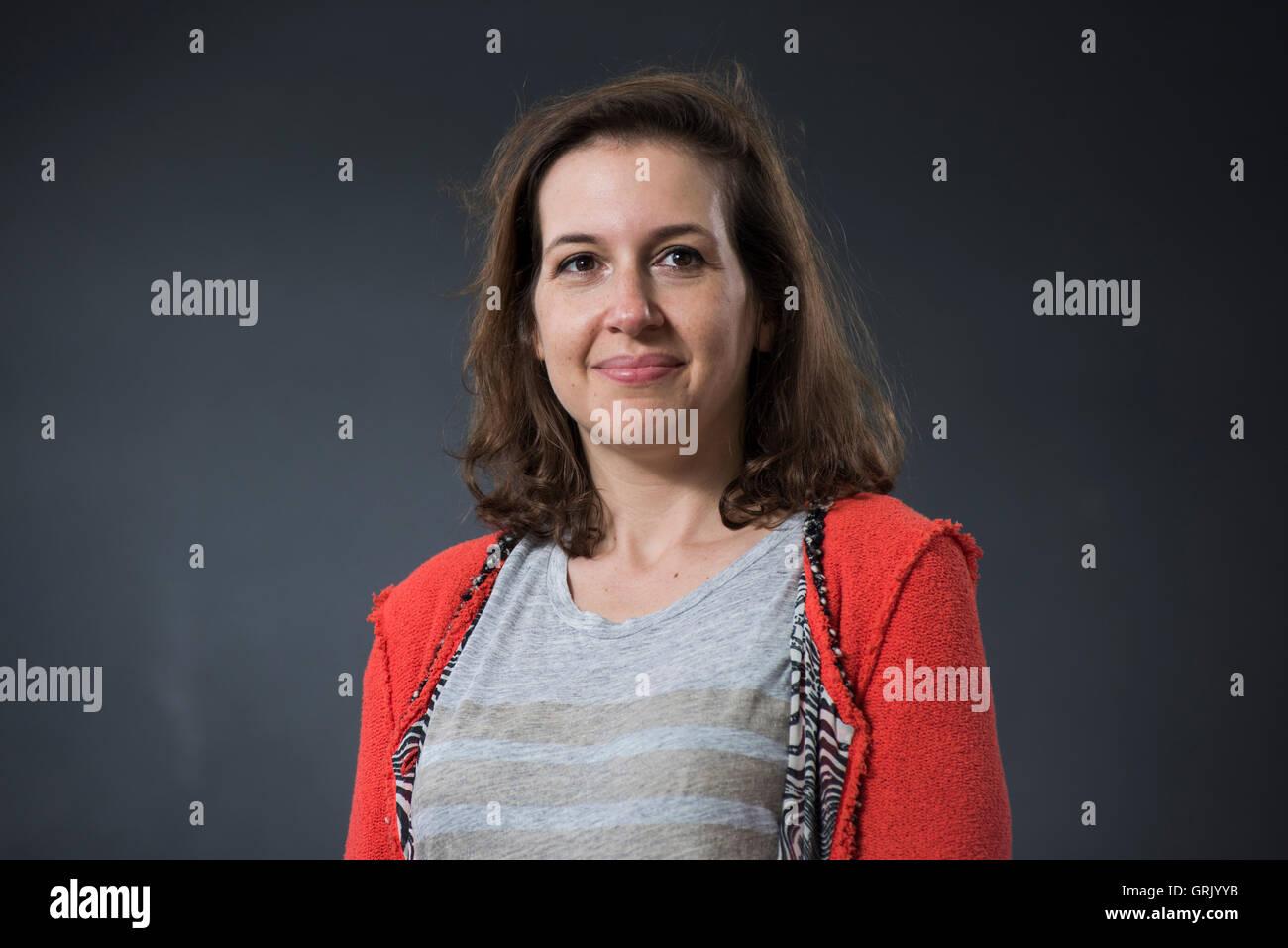 American journalist Hadley Freeman. - Stock Image