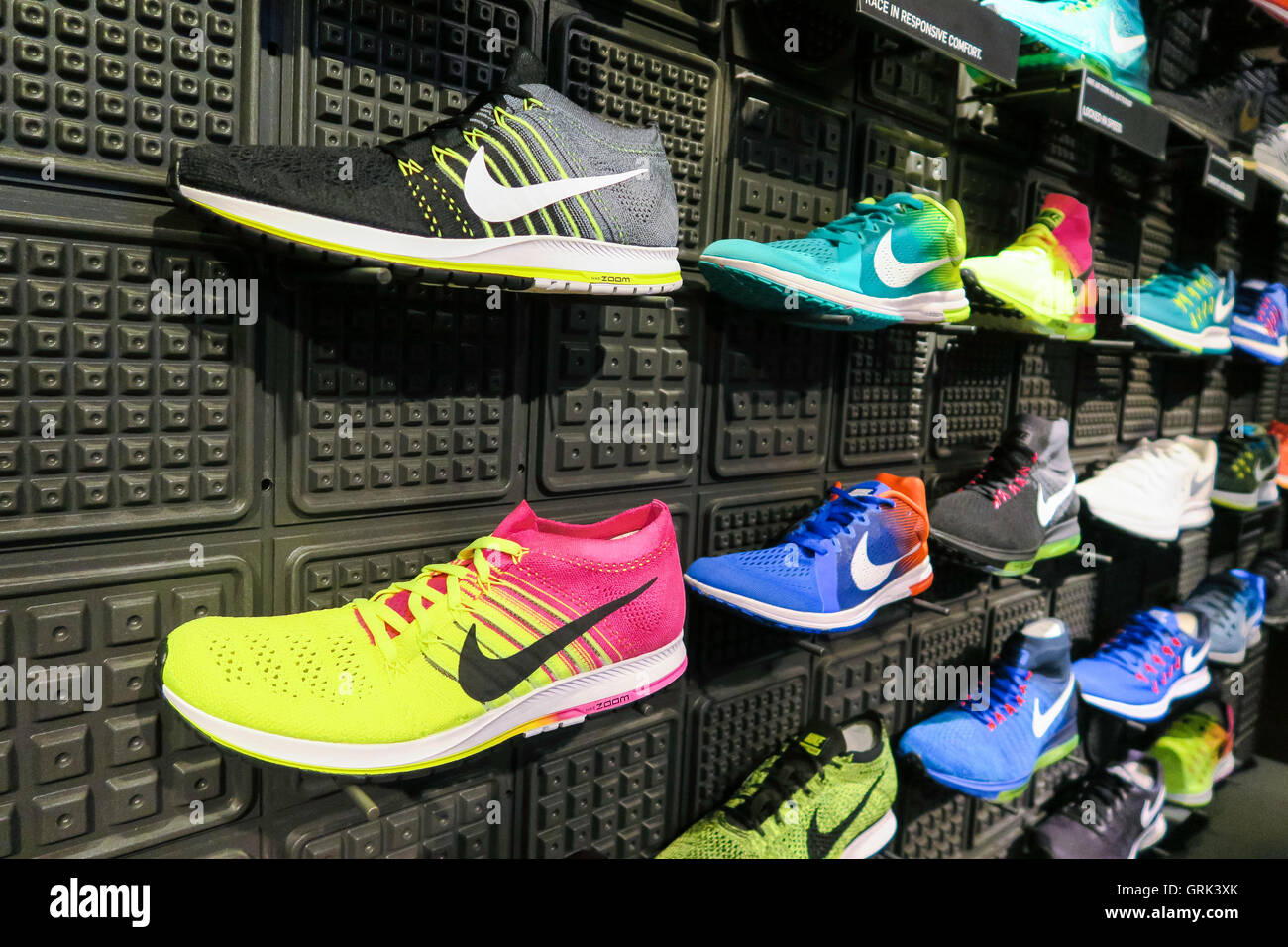 22dd7d4c6545b Nike Shoe Display, Niketown Athletic Apparel Store, 6 East 57th Street, NYC