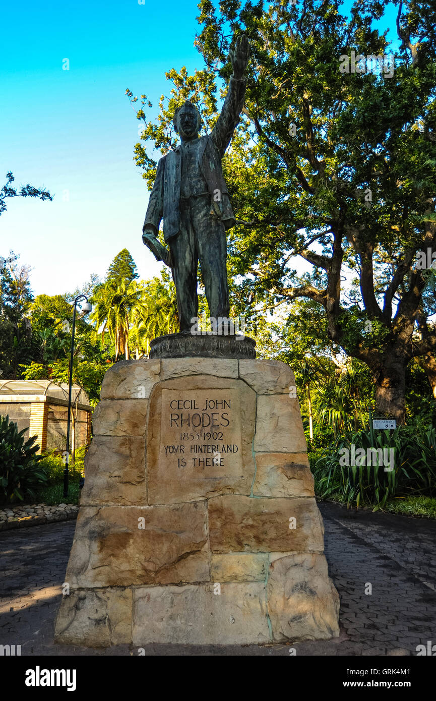 South Africa, Cape Town. The Company's Garden in central Cape Town was originally created in the 1650s. Statue - Stock Image
