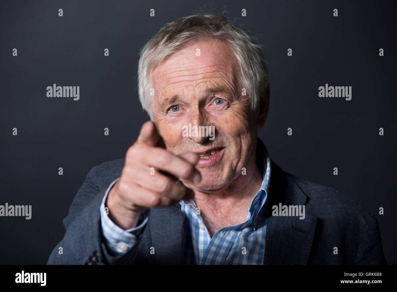 British presenter, political commentator and writer Jonathan Dimbleby. - Stock Image
