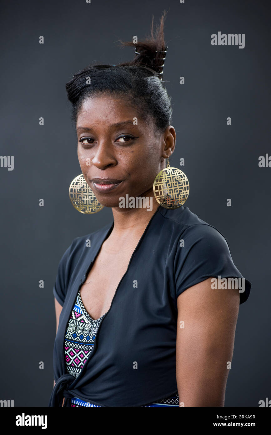 British-Nigerian writer, curator and Arts Project Manager Irenosen Okojie. - Stock Image