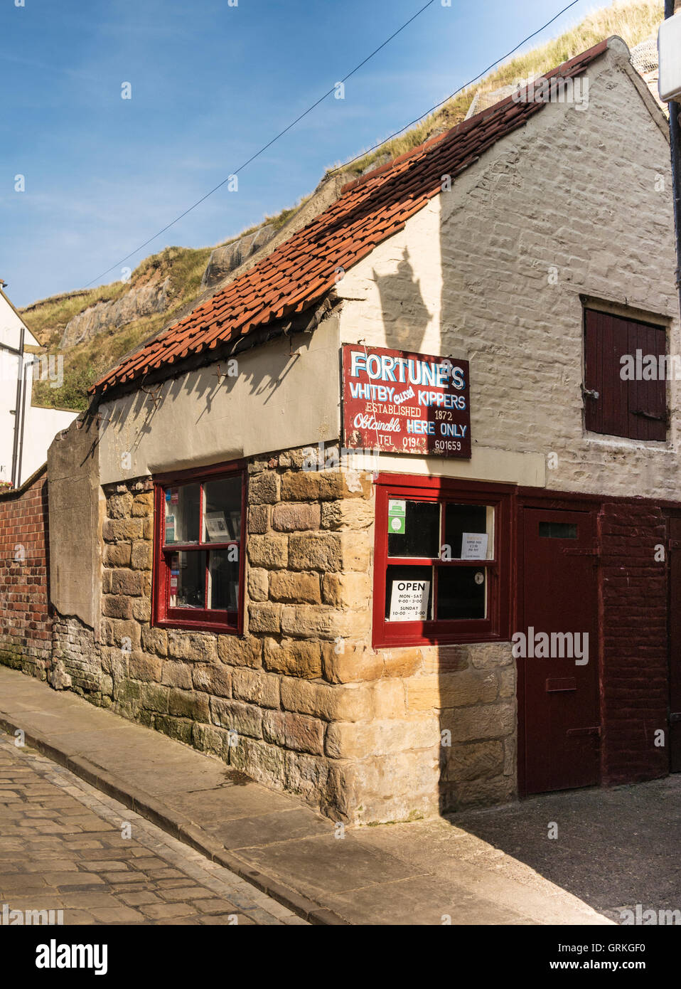 Fortunes Kipper Shop and Smokery Whitby Yorkshire UK - Stock Image