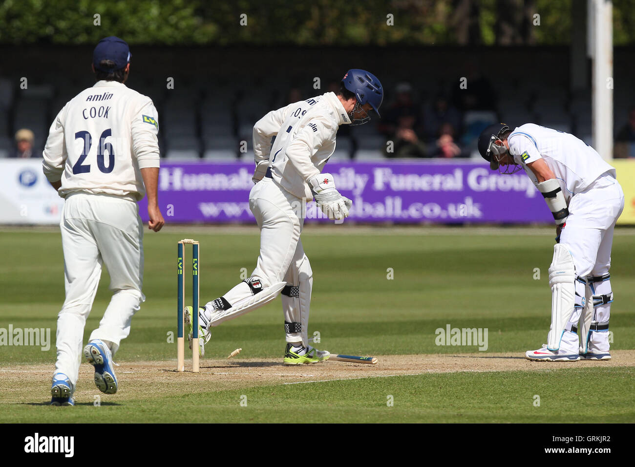 James Foster of Essex effects the stumping of Tim Groenewald - Essex CCC vs Derbyshire CCC - LV County Championship - Stock Image