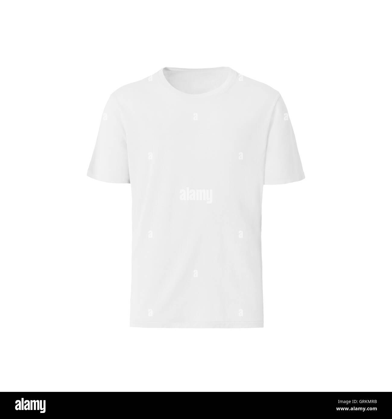 white t-shirt on white background Stock Photo