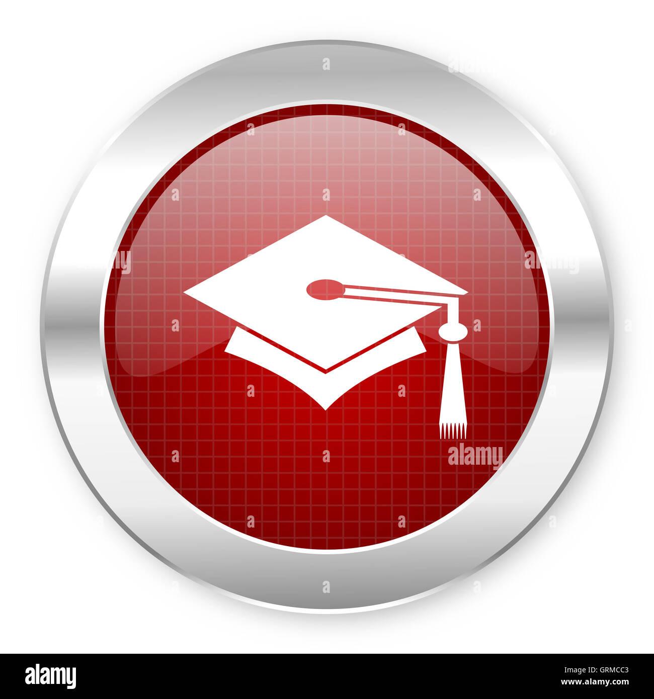 graduation icon - Stock Image