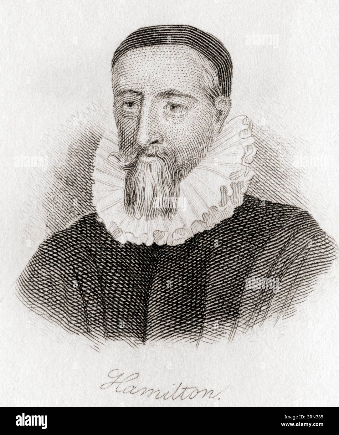 Patrick Hamilton, 1504 – 1528.  Scottish churchman and an early Protestant Reformer in Scotland, tried for heresy - Stock Image