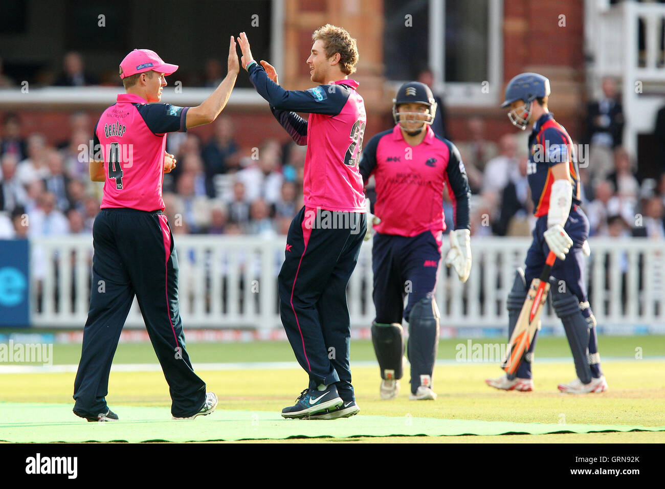 dawid malan c celebrates the wicket of james foster r