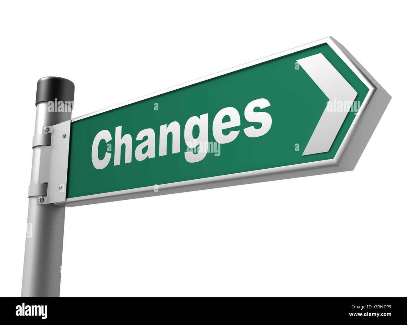 changes road sign - Stock Image