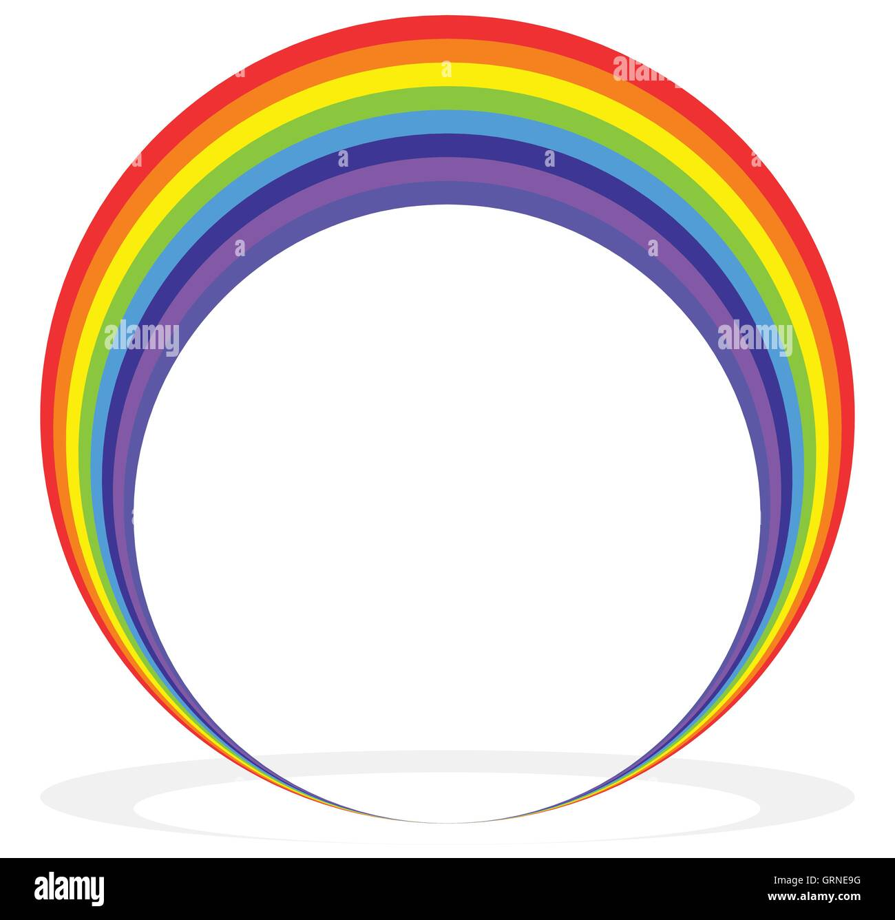 Circular rainbow shape (frame, border, element) with shadow Stock ...