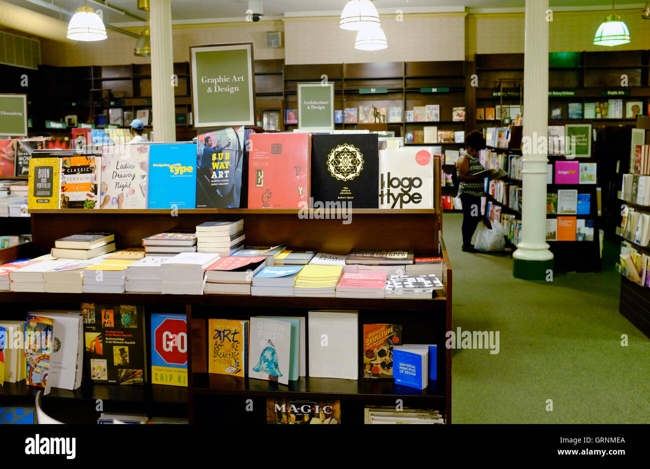 Books on display at Barnes & Noble Booksellers in Union Square,New York City,USA - Stock Image