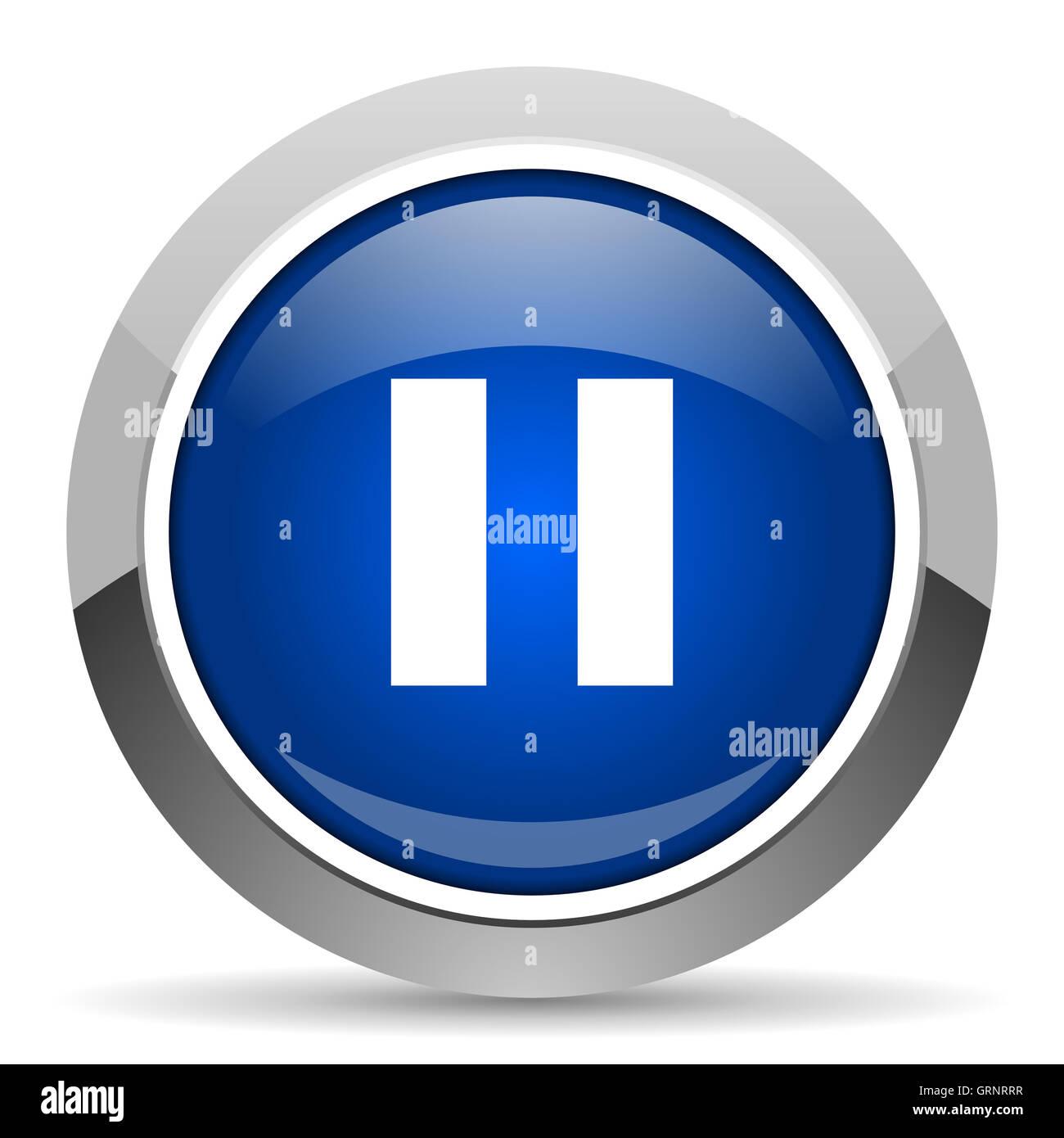 pause icon - Stock Image