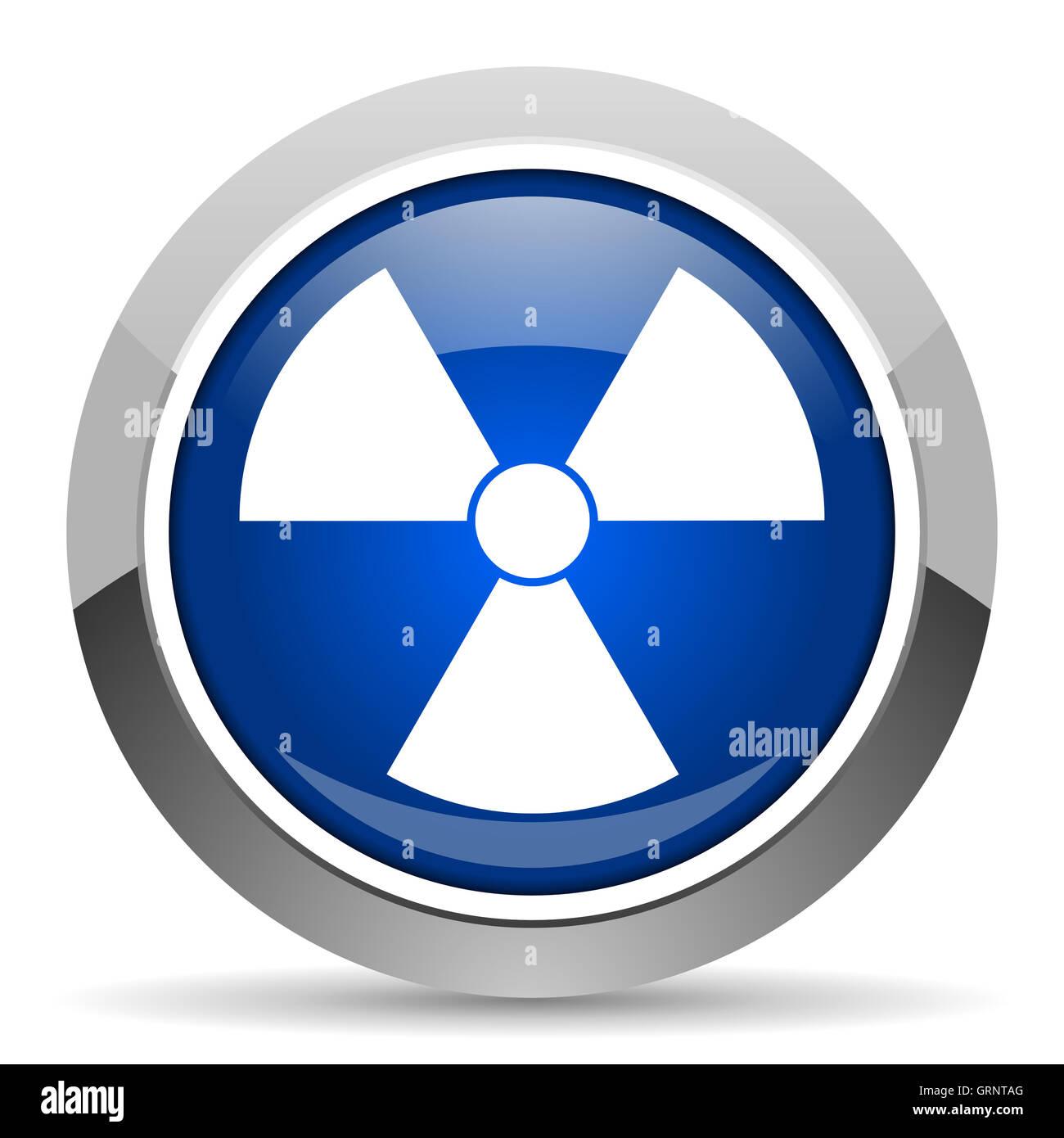 radiation icon Stock Photo