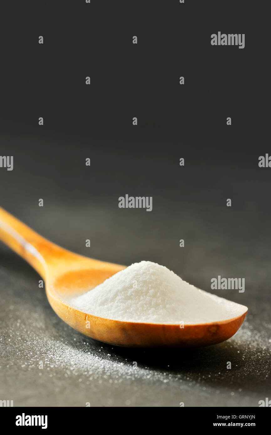 Spoonful of bicarbonate - Stock Image