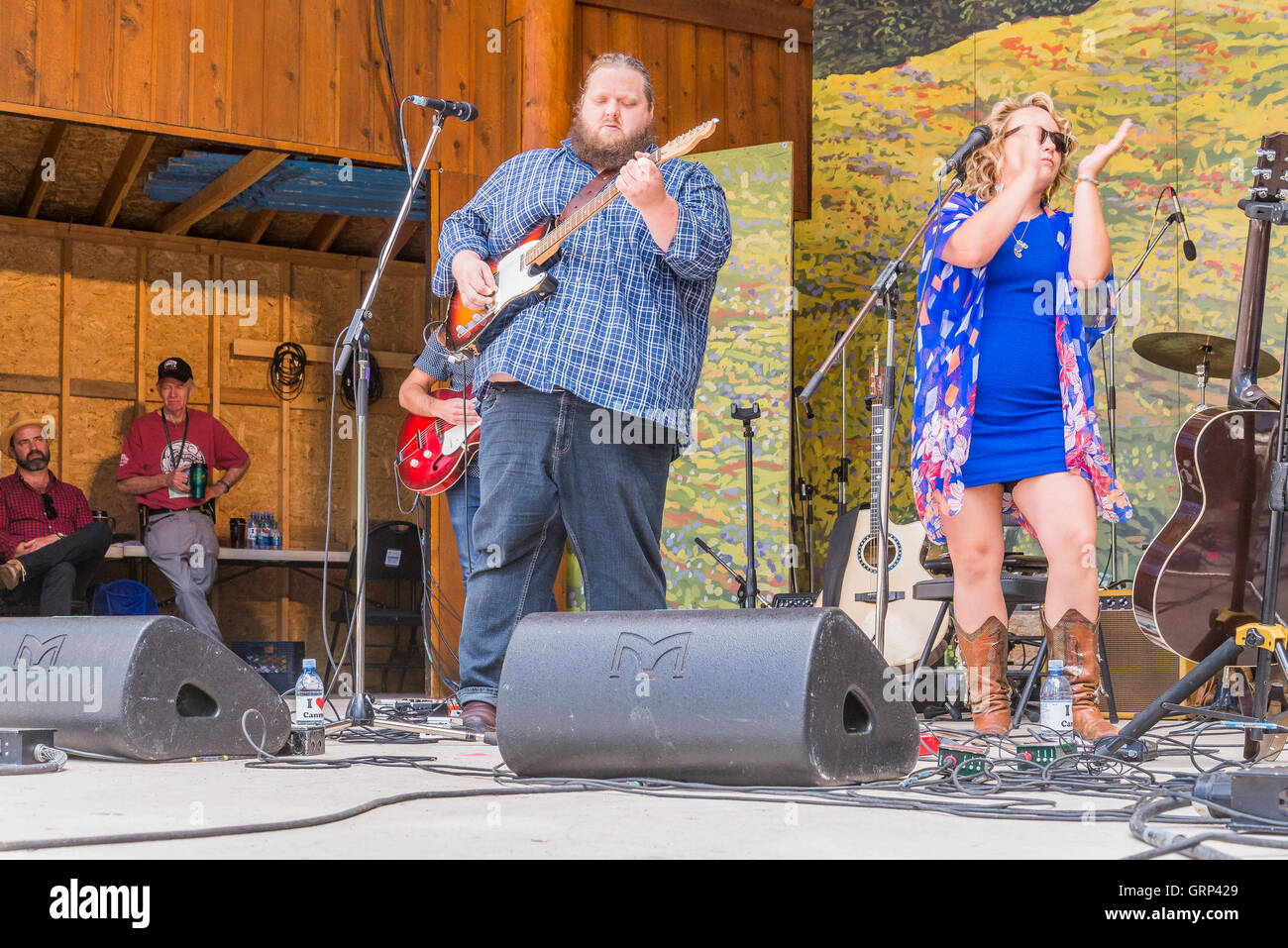 Samantha Martin and Matt Anderson  at Canmore Folk Music Festival, Canmore, Alberta, Canada - Stock Image
