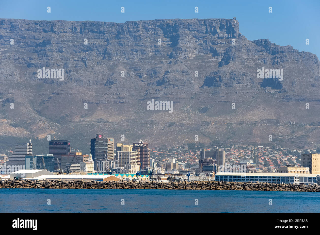 On the way from Robben Island to Waterfront in Cape Town, South Africa. - Stock Image