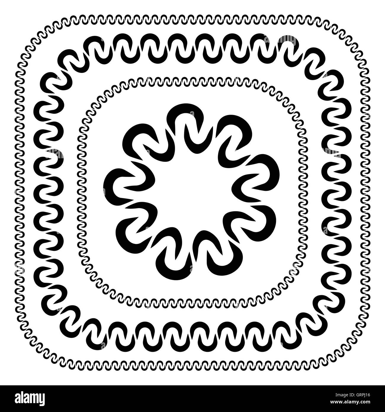 Set of decorative frames in different sizes Stock Vector Art ...