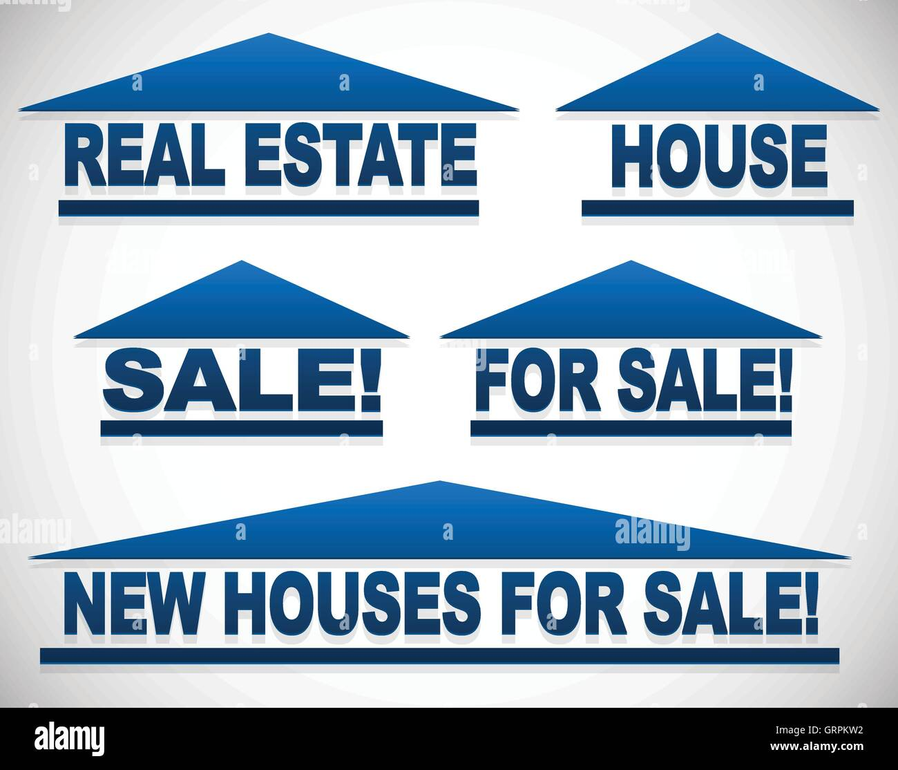 Icons With Text For Real Estate Concepts For Sale Signs House