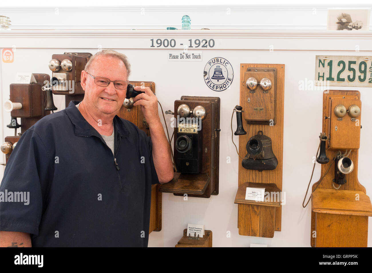 New Hampshire Telephone museum in Warner NH Stock Photo