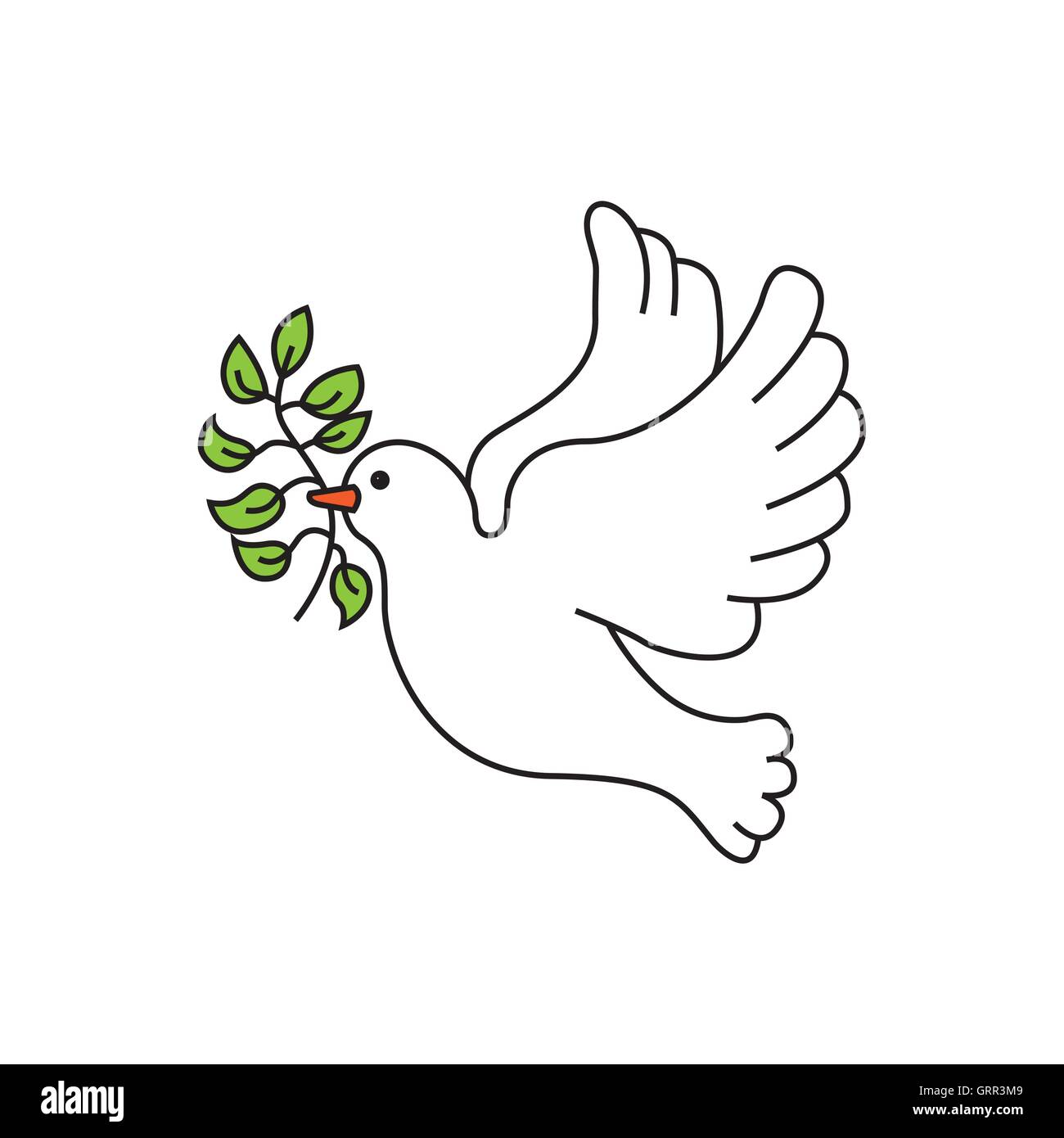 Peace Dove With Olive Branch Stock Vector Image Art Alamy
